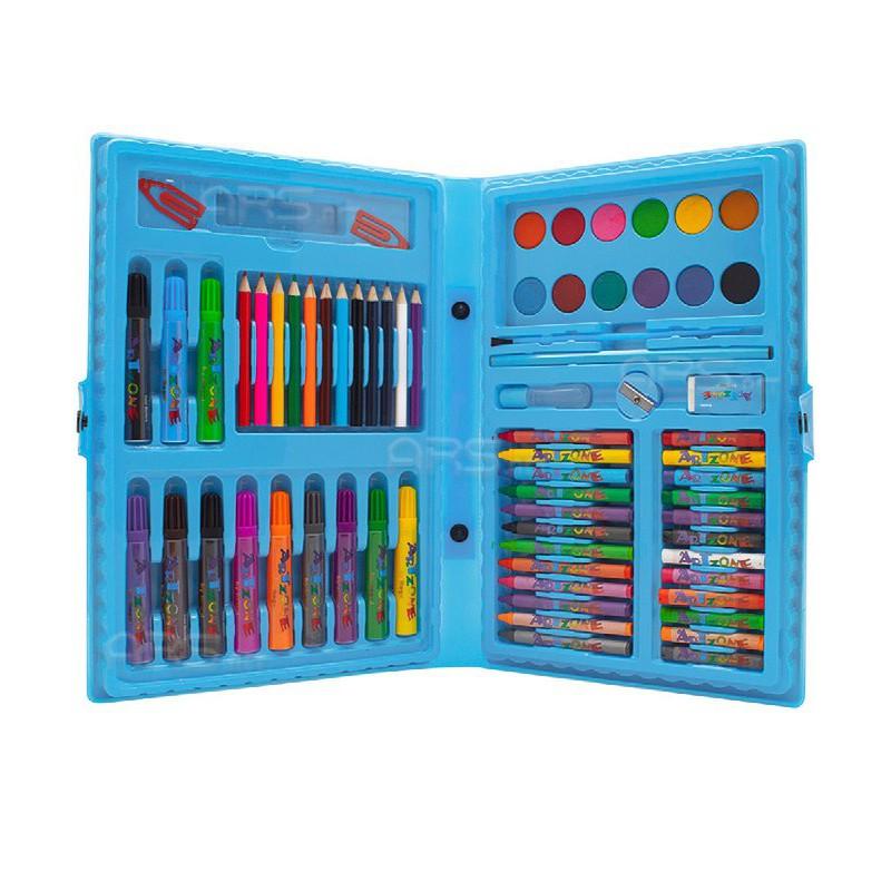 Shopee Estojo Maleta Pintura Infantil Canetinhas Giz Lápis + Desenhos Para Colorir
