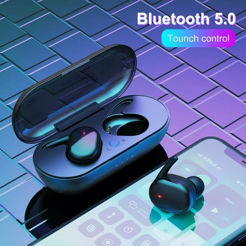 Fone de Ouvido Y30 TWS Esportivo com Bluetooth 50 Com Headset Estéreo sem Fio para Uso Externo!
